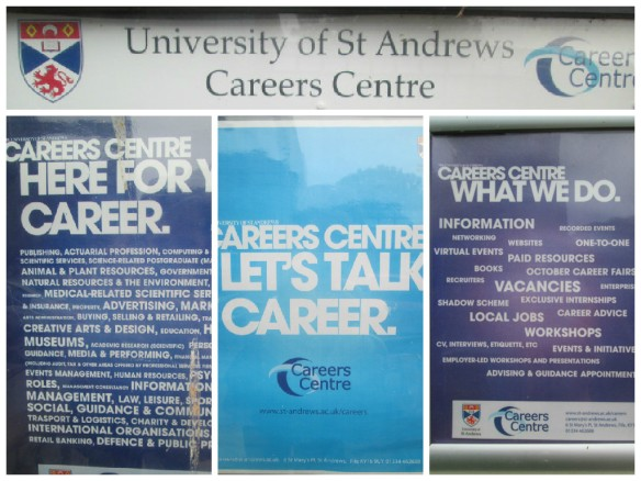Career Center poster set up